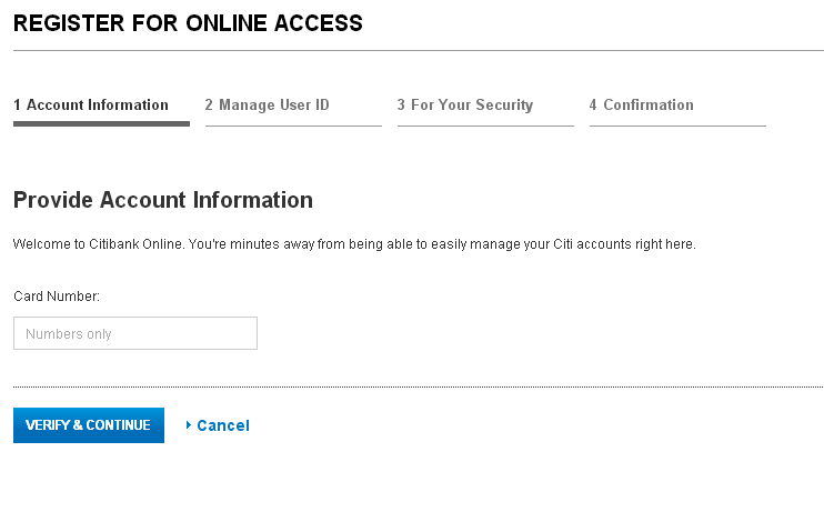 Registration for Online Access