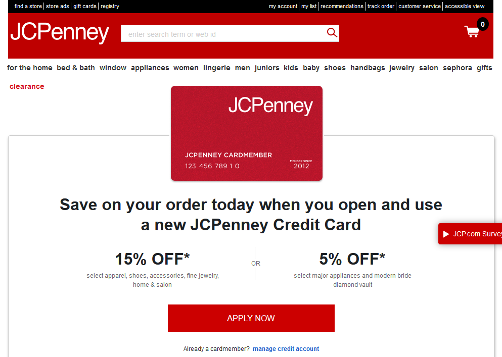Step 1 - Go to Jcpenney.com