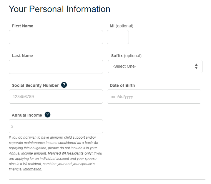 Step 2 - Fill Your Personal Information