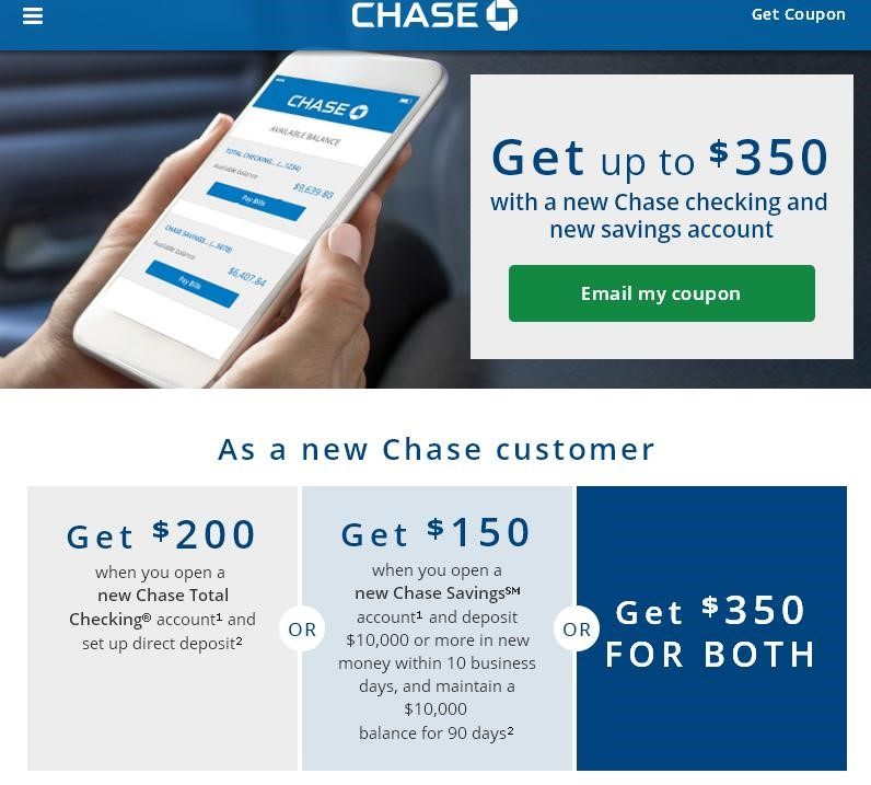 Chase Sapphire Preferred Coupons for New Customers