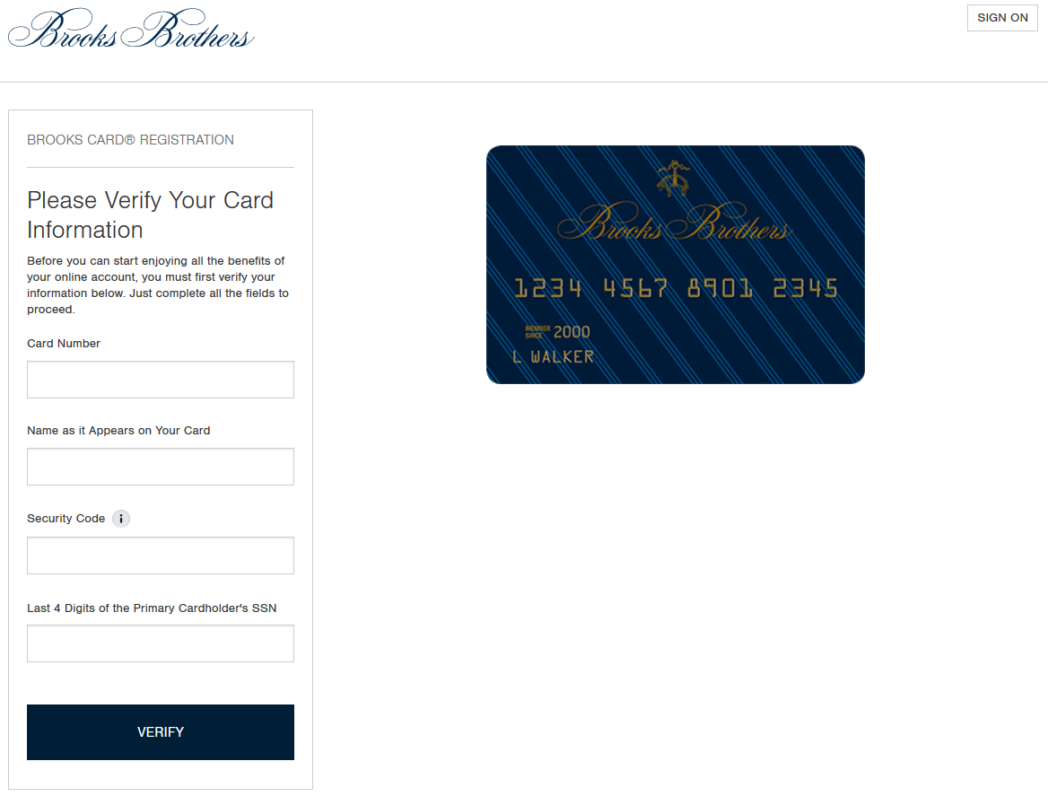 How to Register Brooks Brothers Platinum MasterCard