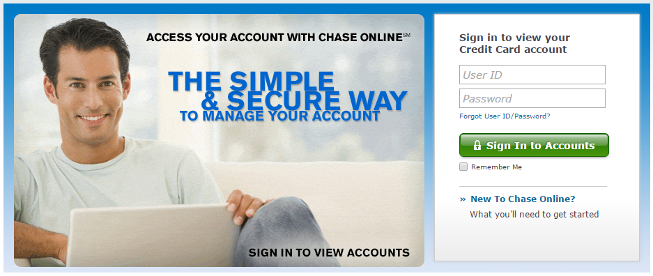 How to Login to Chase Sapphire Preferred Credit Card Account