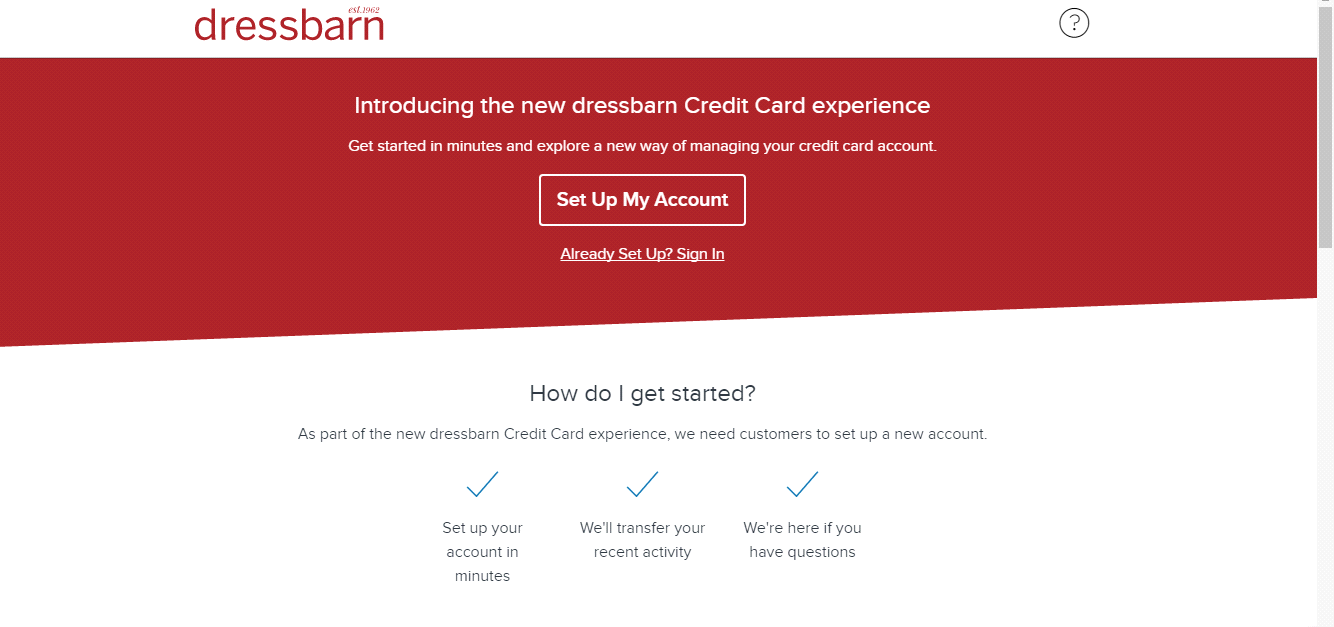 How to Login Dressbarn Credit Card Account