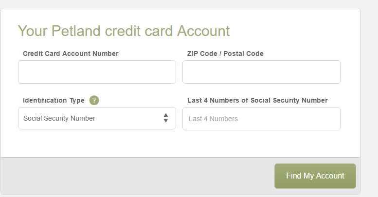 Petland Credit Card Login