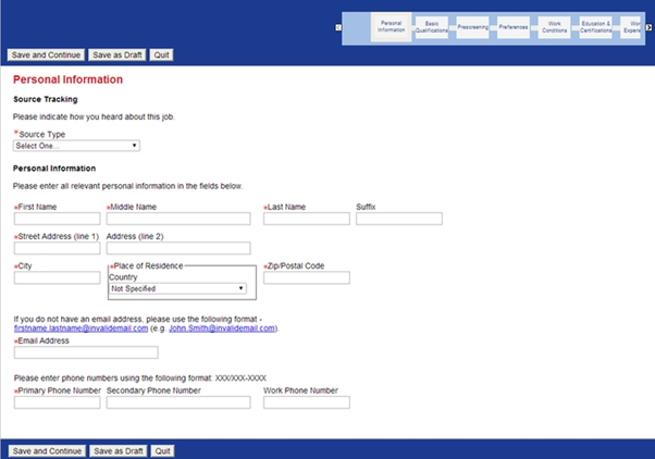 Step 2 - Fill The Application Form