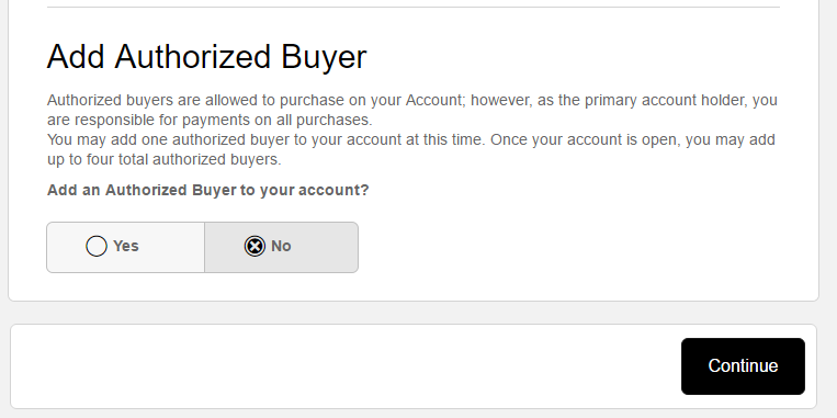 Step 4 - Add Your Authorized Buyer