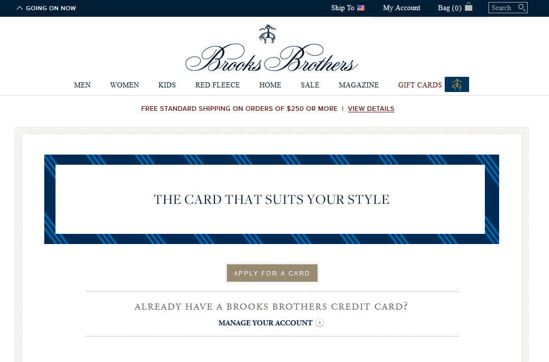 Step 1 - Go to BrooksBrothers.com