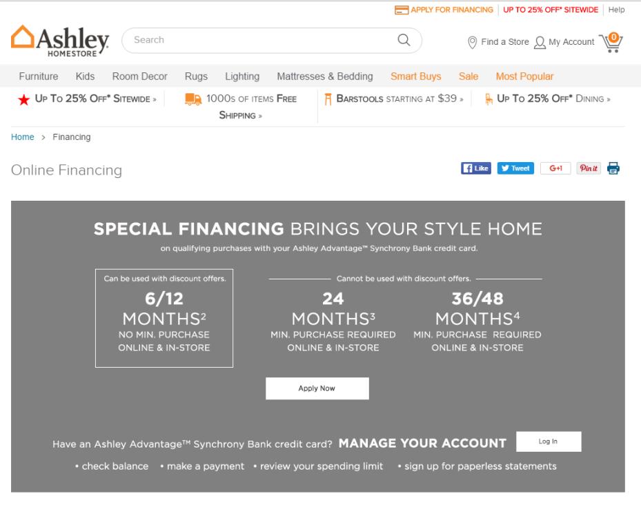 ge ashley furniture credit card login